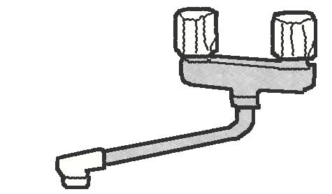 2ハンドル混合栓の修理方法
