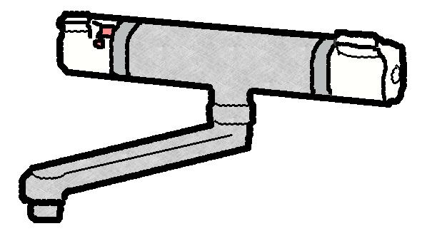 サーモスタット混合栓の修理方法