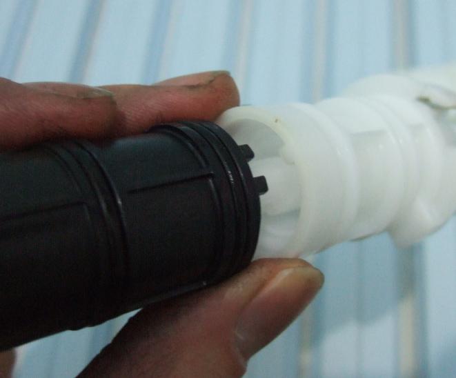 TOTOサーモスタット混合栓 開閉バルブとスペーサーをセットする際の位置
