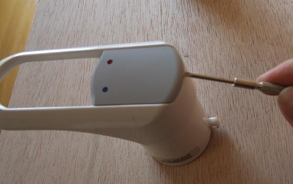 シングルレバー混合水栓のハンドルの外し方