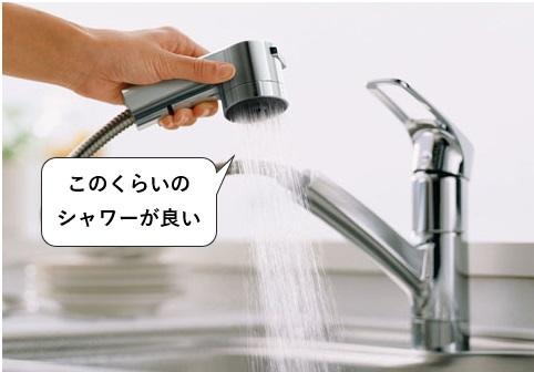 台所の蛇口の節水は幅広のシャワーがおすすめ